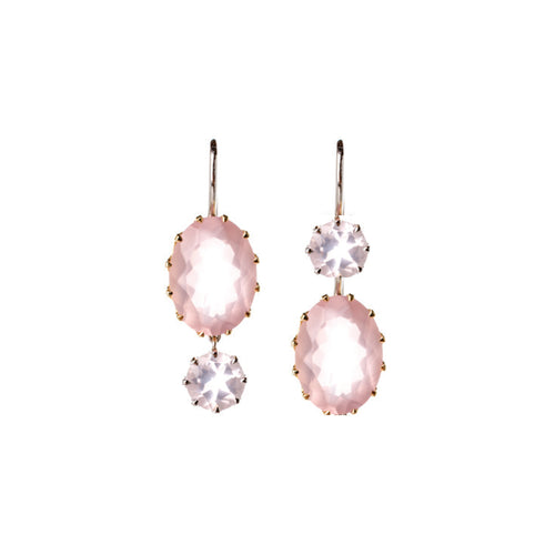 Rose Quartz Windfall Earrings