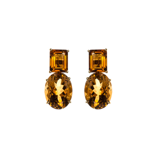 Golden Topaz Magnanimous Earrings
