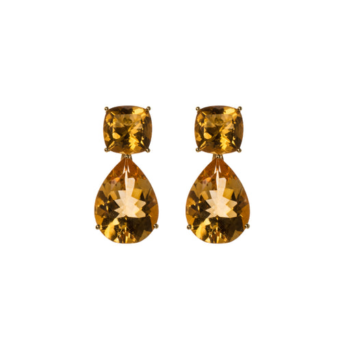 Golden Topaz Dharma Earrings