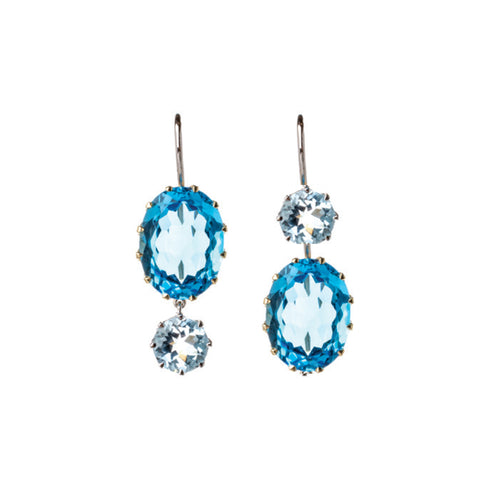 Blue Topaz Windfall Earrings
