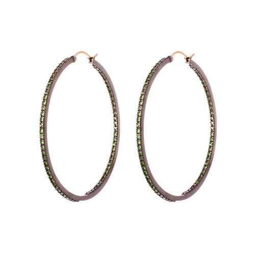 Medium Emerald Hoops