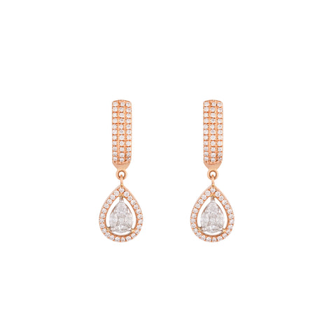 Moon Halo Diamond Earrings