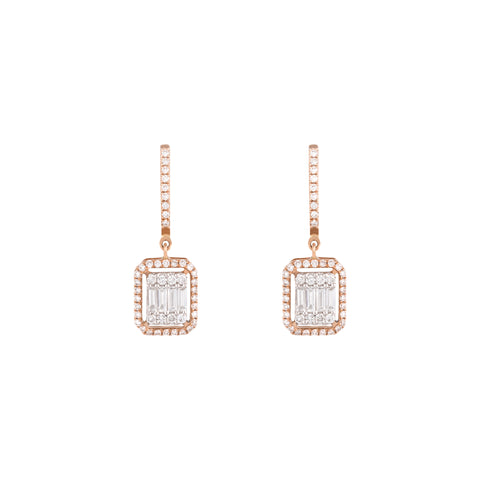Star-Burst Diamond Earrings