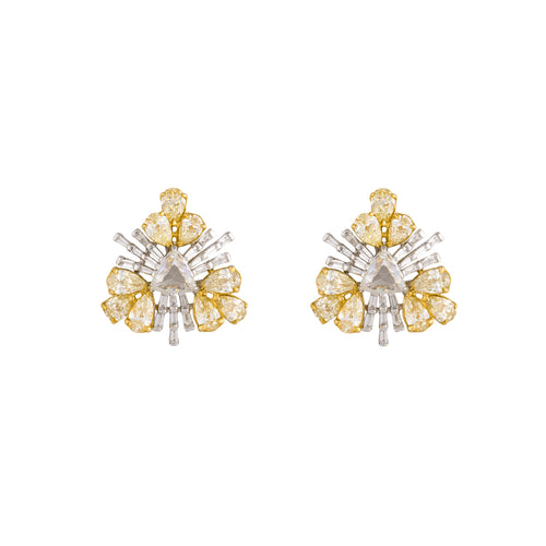 Yellow & White Diamond Joie de Vivre Earrings