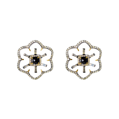 Black & White Gatsby Earrings