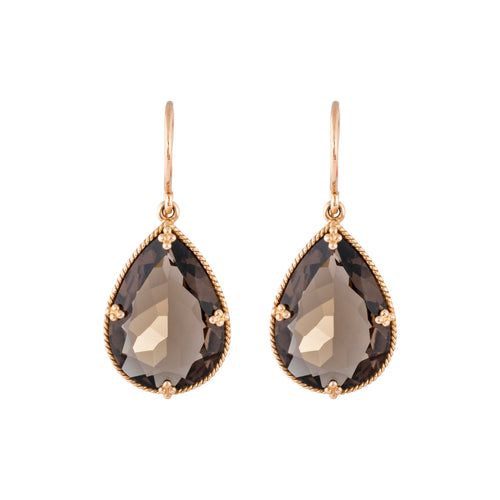 Smokey Topaz Allure Drops Earrings