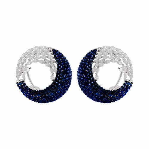 Sapphire & Diamond Siren Dance Earrings