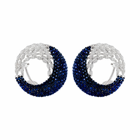 Sapphire & Diamond Ethereal Vision Earrings