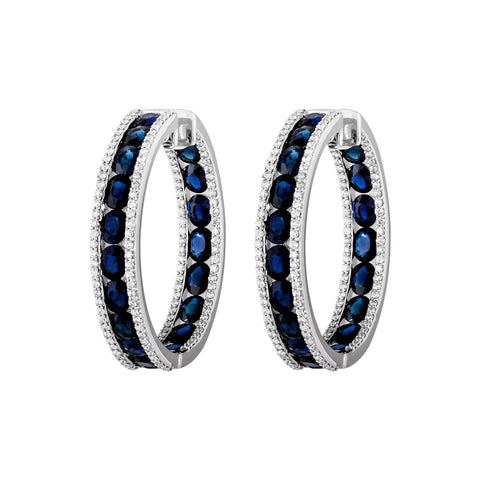 Sapphire & Diamond Ethereal Dream Earrings