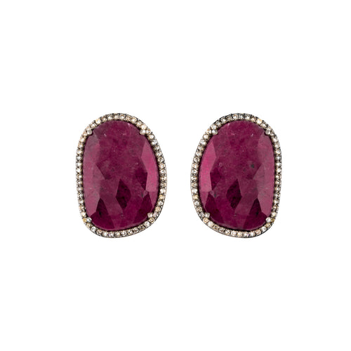 Ruby & Diamond Ethereal Gift Earrings