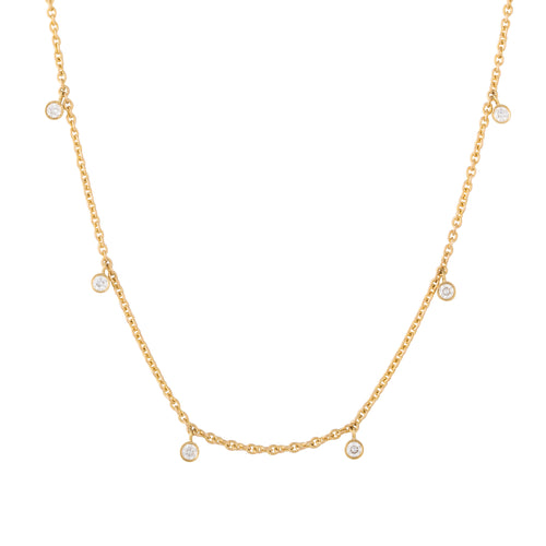 Diamond Rhea Yellow Gold Necklace