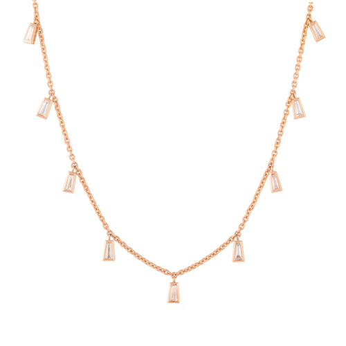 Diamond Maia Necklace Rose Gold