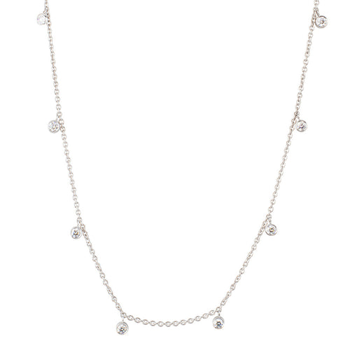 Diamond Rhea White Gold Necklace