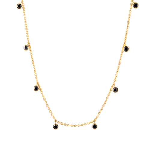 Black Diamond Rhea Yellow Gold Necklace