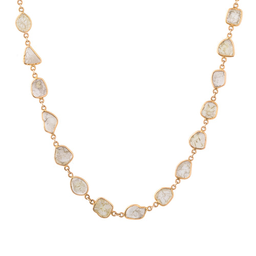 Sheer Amazement Diamond Slice Necklace