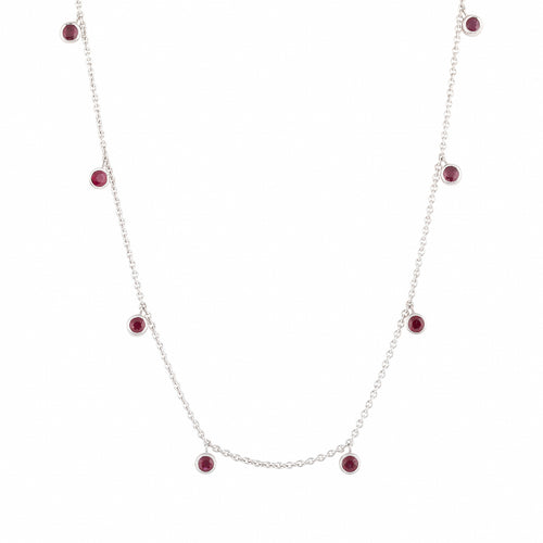 Ruby Rhea White Gold Necklace