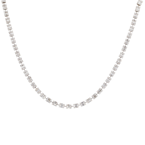 Timeless Diamond Duet Necklace