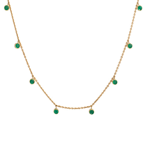 Emerald Rhea Yellow Gold  Necklace