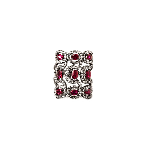 Pearl & Ruby Grace Ring