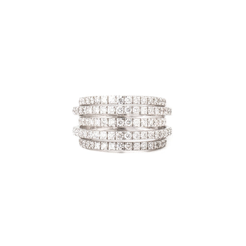 Five Line Diamond Ring