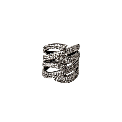 Welded Ribbon Diamond Ring