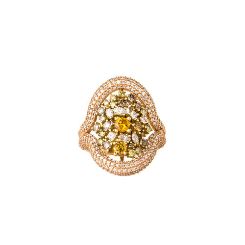 Multicolor Diamond High Priestess Ring