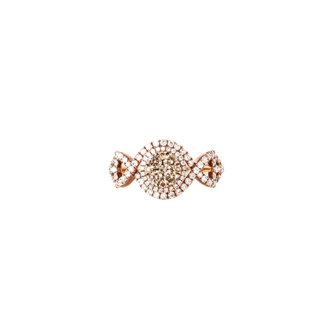 Opal & Rose Gold Illuminati Ring