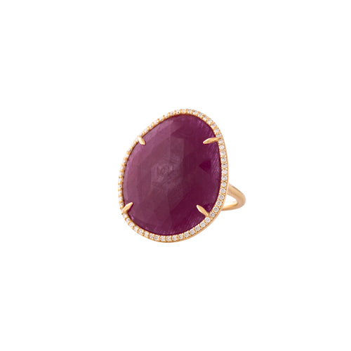 Ruby & Gold Crimson Lady Ring