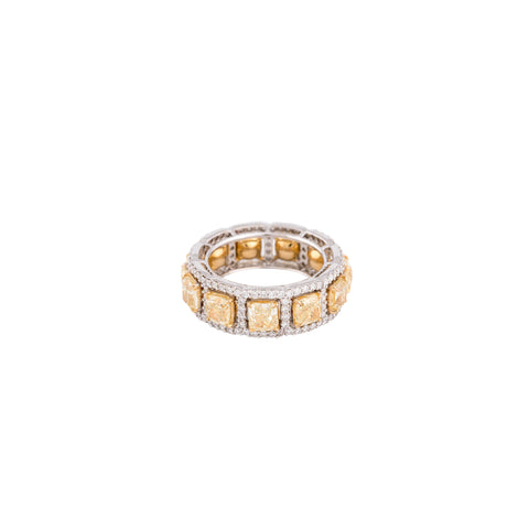 Matte Gold & Diamond Glissade Drops Ring