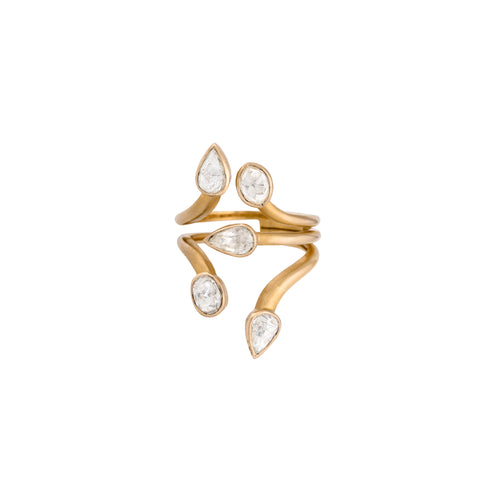 Hint of Mystery Serpent Rose Gold Ring