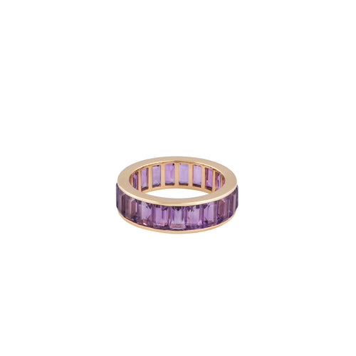 Amethyst Lilac Feathers Ring