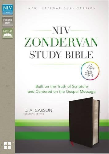 NIV Zondervan Study Bible, Bonded Leather, Black: Built on the Truth of Scripture and Centered on the Gospel Message Bonded Leather – August 25, 2015