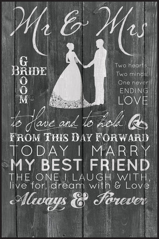 Wedding Lithograph - Chalkboard Color