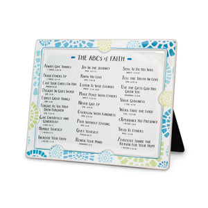 ABC's of Faith Ceramic Plaque
