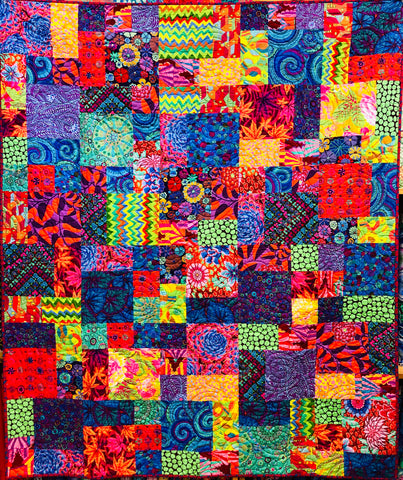 Flowers in the Garden Quilt Kit-Kaffe Brights