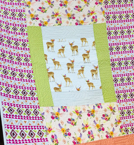 Floral Fawn Quilt Kit