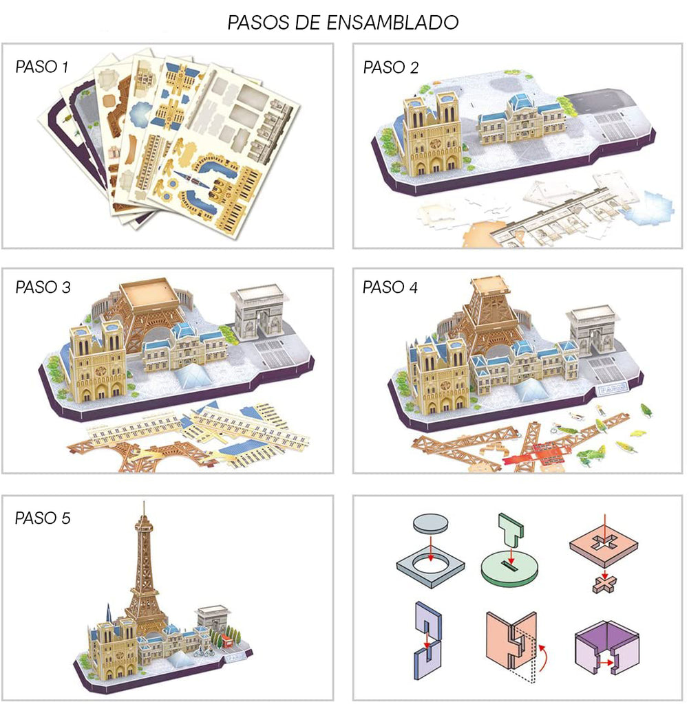 PARIS CITY LINE - Cubicfun - Puzzle 3D