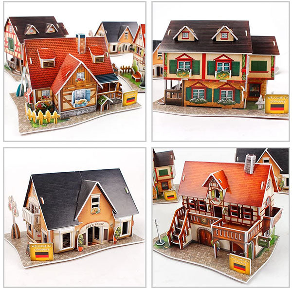 CASAS TÍPICAS DE ALEMANIA WORLD GERMANY STYLE - Cubicfun - Puzzle 3D