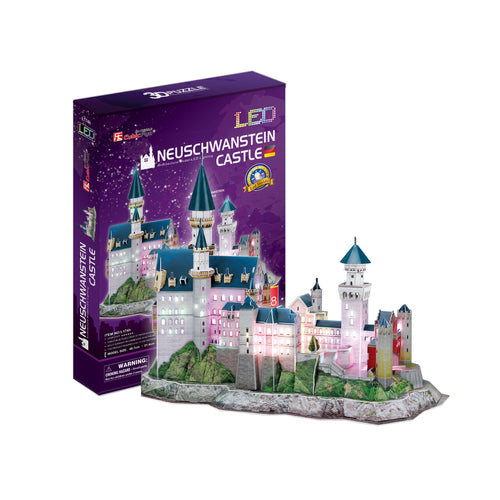 NEUSCHWANSTAIN CASTLE LED - Cubicfun - Puzzle 3D