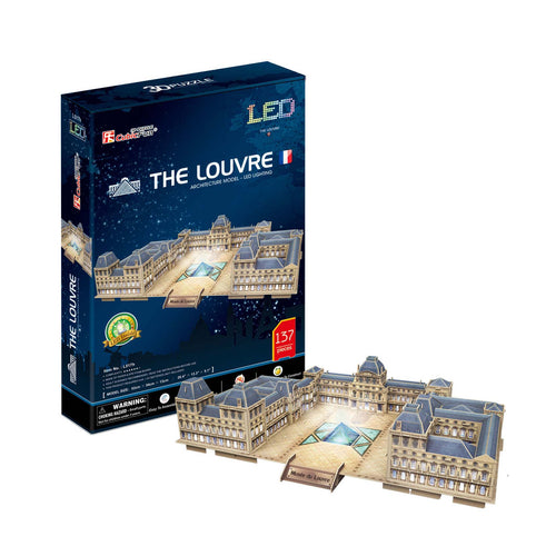 LOUVRE CON LUCES LED