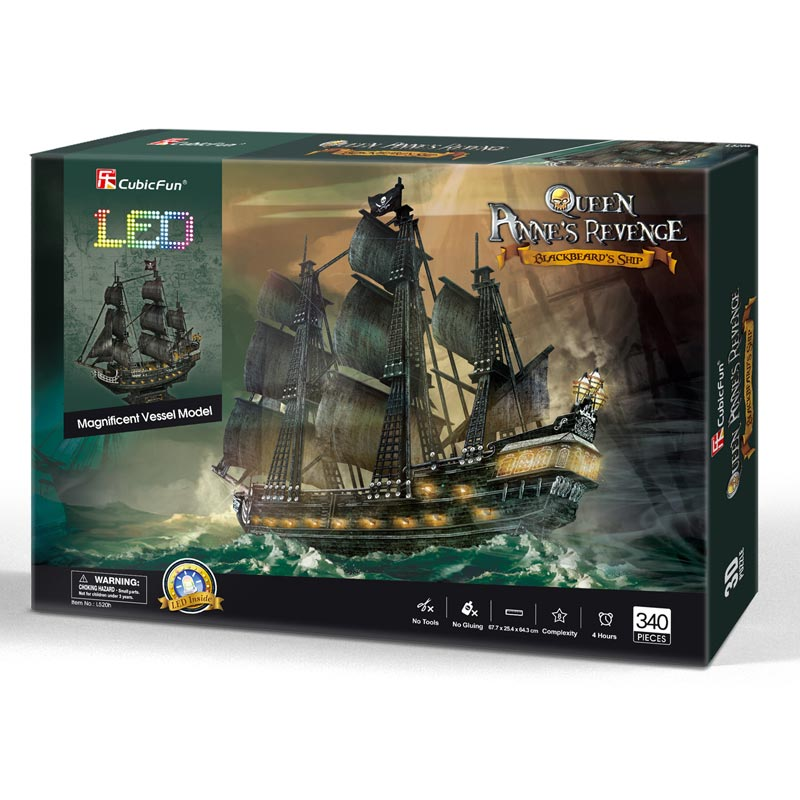 Queen Anne Revenge LED - Cubicfun - Puzzle 3D