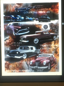 Custom Car Revival Coloring Book #4
