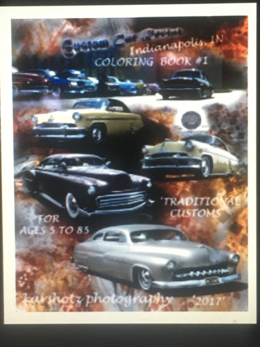 Custom Car Revival Coloring Book #1