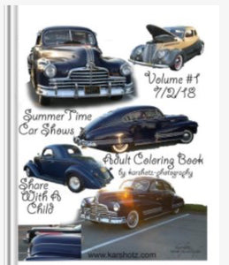 SummerTime Car Shows Coloring Book
