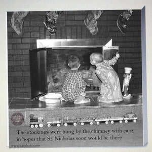 Waiting for St. Nicholas!  Unframed...
