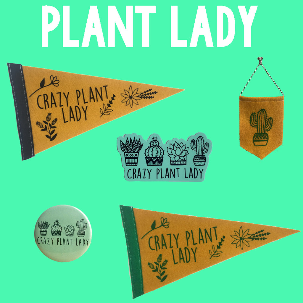 Plant lady inspired designs