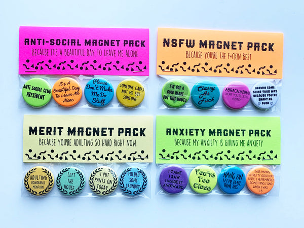 Anxiety Pin or Magnet Pack