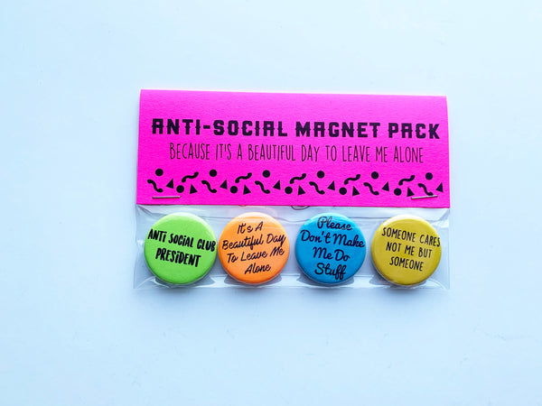 Anti-Social Pin or Magnet Pack