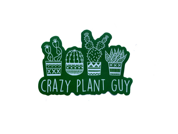 Crazy Plant Guy Sticker