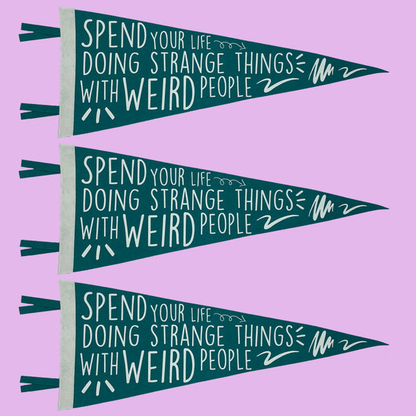 Strange Things Weird People Pennant